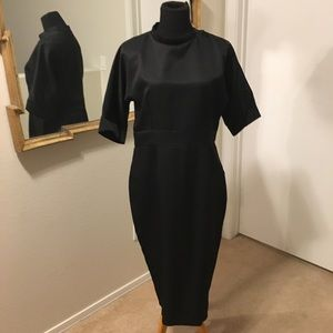 Dresses - Vintage High Neck Pencil Dress